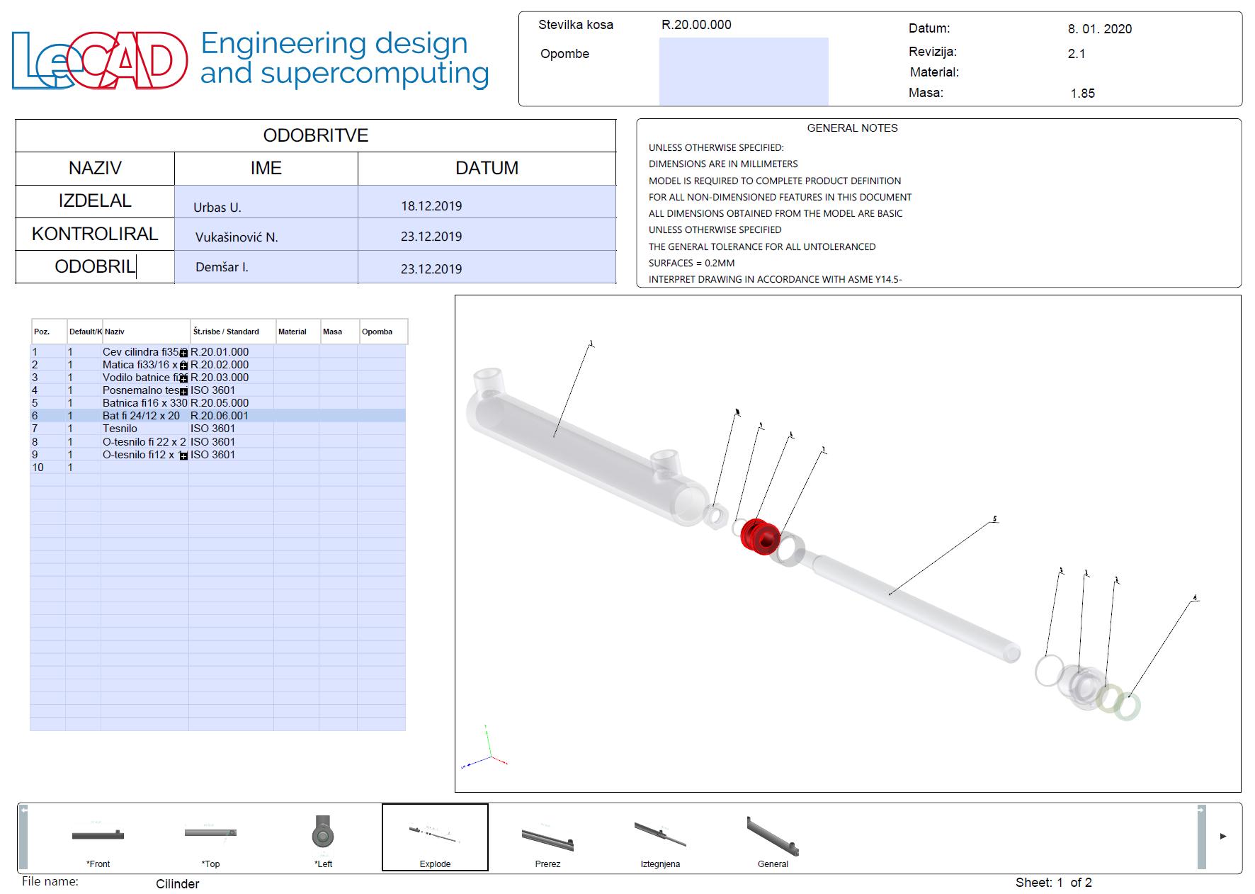 Prehod v celovito opredelitev CAD-modela (MBD)