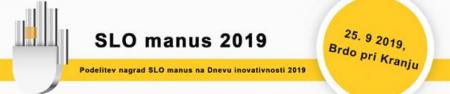 Podelitev nagrad SLO manus na Dnevu inovativnosti 2019